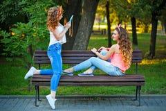 Meilleurs amis photographiés Photo stock