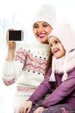 Meilleurs amis posant pour un selfie Photographie stock libre de droits
