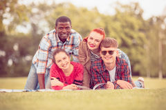 Meilleurs amis sur le pique-nique Photo libre de droits