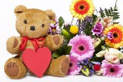 Meilleurs voeux avec un ours de nounours Photos libres de droits