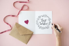 Meilleurs voeux concept de cartes cadeaux de cartes de voeux Photographie stock