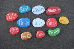 Meilleurs voeux de Paris, avec amour Photographie stock