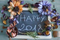 Meilleurs voeux pendant un 2018 heureux Photo stock
