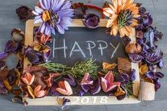 Meilleurs voeux pendant un 2018 heureux Photos stock