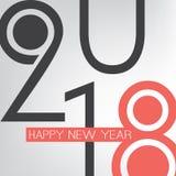 Meilleurs voeux - rétro carte de voeux de bonne année de style ou fond abstraite, calibre créatif de conception - 2018 illustration stock