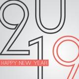 Meilleurs voeux - rétro carte de voeux de bonne année de style ou fond, calibre créatif de conception - 2019 illustration de vecteur