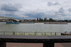 Mein στη Βόννη Ποταμός - slogger Στοκ εικόνα με δικαίωμα ελεύθερης χρήσης