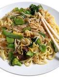 菜中国食物膳食mein的面条 图库摄影