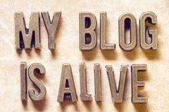 Mein Blog ist lebendiges m Stockbilder