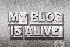 Mein Blog ist lebendiges metallisches Lizenzfreies Stockbild