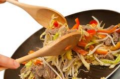 Mein del cibo del manzo di Stirfry Immagine Stock
