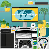 Mein Desktop, Geschäft, Büro Stockfoto