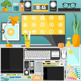 Mein Desktop, Geschäft, Büro Lizenzfreie Stockfotografie