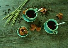Mein Doppelkaffee Lizenzfreies Stockbild