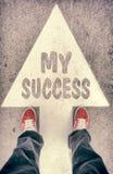 Mein Erfolgskonzept Lizenzfreies Stockfoto