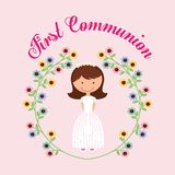 Mein erstes Kommunionsdesign Lizenzfreies Stockbild