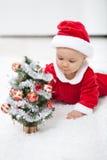 Mein erstes Weihnachten stockfotografie
