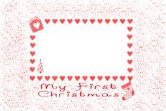 Mein erstes Weihnachten Stockbild