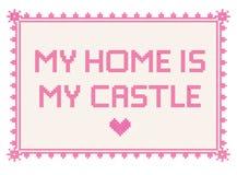 Mein Haus ist mein Schloss lizenzfreie stockbilder