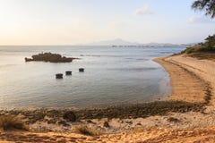 Mein Hiep-Strand im Sonnenuntergang, Ninh Thuan, Vietnam Stockfotos