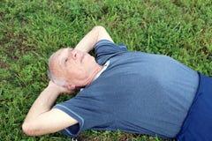 Mein 83-Jähriger-Schwiegervater Lizenzfreies Stockbild