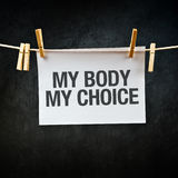 Mein Körper meine Wahl Stockbilder