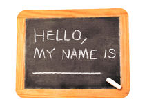 Mein Name ist. stockfotos