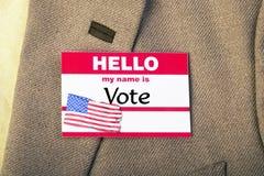 Mein Name ist Abstimmung Stockfotografie