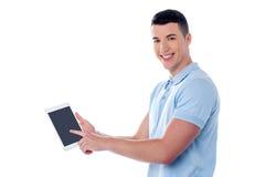 Mein neues Tabletten-PC-Gerät! Stockfoto