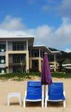 Mein Punkt auf dem Strand Stockbild