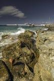 Mein Schiff 1 на анкере Mykonos Греции Стоковая Фотография RF