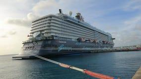 MEIN-SCHIFF-5 Cruise Ship @ Kralendijk, Bonaire --well towed Royalty Free Stock Photography
