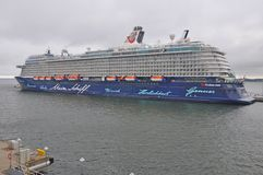 Mein Schiff 4. Is a cruise ship owned by TUI Cruises royalty free stock photos