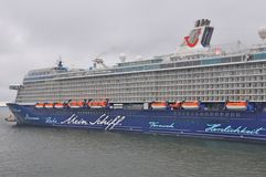 Mein Schiff 4. Is a cruise ship owned by TUI Cruises stock images
