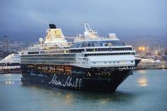 Mein Schiff 1 i port Royaltyfri Foto