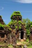 Mein Sohn, historischer Komplex von hindischen Tempeln auf der zentralen Südküste in Vietnam Stockfotos