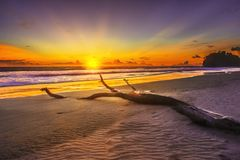 Mein Sonnenuntergang bei Nord-Bengkulu stockfoto