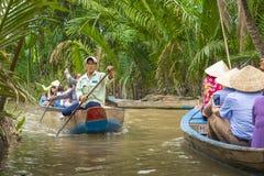 MEIN THO, VIETNAM - 24. NOVEMBER 2018: Der Mekong-Deltadschungel c lizenzfreie stockbilder
