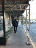 Mein Vati unter Chicago-Baugerüst Stockbild