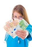 Mein wohlverdientes Geld Lizenzfreie Stockbilder