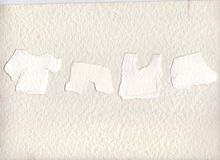 Meine Blätter Papier zerrissen von den Wahnvorstellungen gescannt, um für Sie Platz zu machen, um zu schreiben Post-Itsatz benutz Stockbild