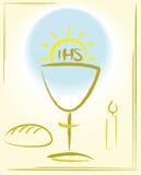 Meine erste heilige Kommunion - Hintergrund Stockbilder