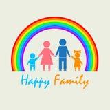 Meine Familie unter dem Regenbogen Stockbilder
