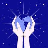Meine Hauptplaneten-Erde Stockfoto