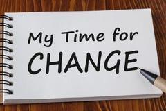 Meine Zeit für Änderungs-Konzept Lizenzfreies Stockbild