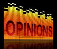 Meinung planiert Konzept Lizenzfreies Stockbild