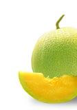 Meio Cantaloupe Fotografia de Stock