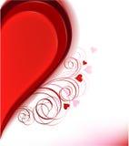 Meio coração. ilustração do vetor Foto de Stock