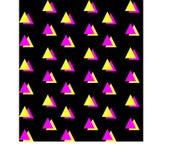 Meio fundo sem emenda quadrado alaranjado verde Imagens de Stock Royalty Free