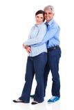 Meio loving pares envelhecidos Imagem de Stock